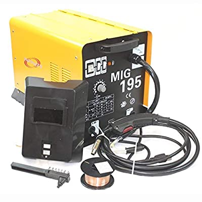 9TRADING MIG 195 Amp MAG 220v Welder Flux Stainless Aluminum Welding Machine Gas/No Gas