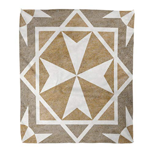 Golee Throw Blanket Rustic Marble Floor Tiles Pattern Porcelain Wall for Abstract Architecture 60x80 Inches Warm Fuzzy Soft Blanket for Bed Sofa ()