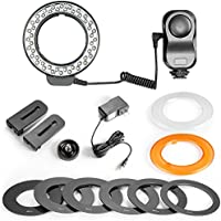 Bestlight 48 LED Macro Ring Light With 6 Adaptors Rings for Canon Digital EOS Rebel SL1 (100D),T5i(700D),T4i(650D),T3(1100D),T3i(600D),60D,60Da,50D,Nikon D5300,D5000,D3000,D3200,D5100 DSLR Cameras