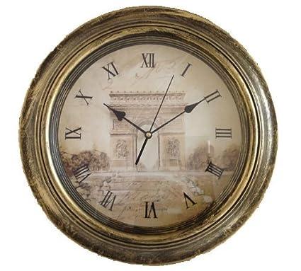 Reloj pared 45 cm rendondo Reloj cocina Moderno París Nostalgia XXL