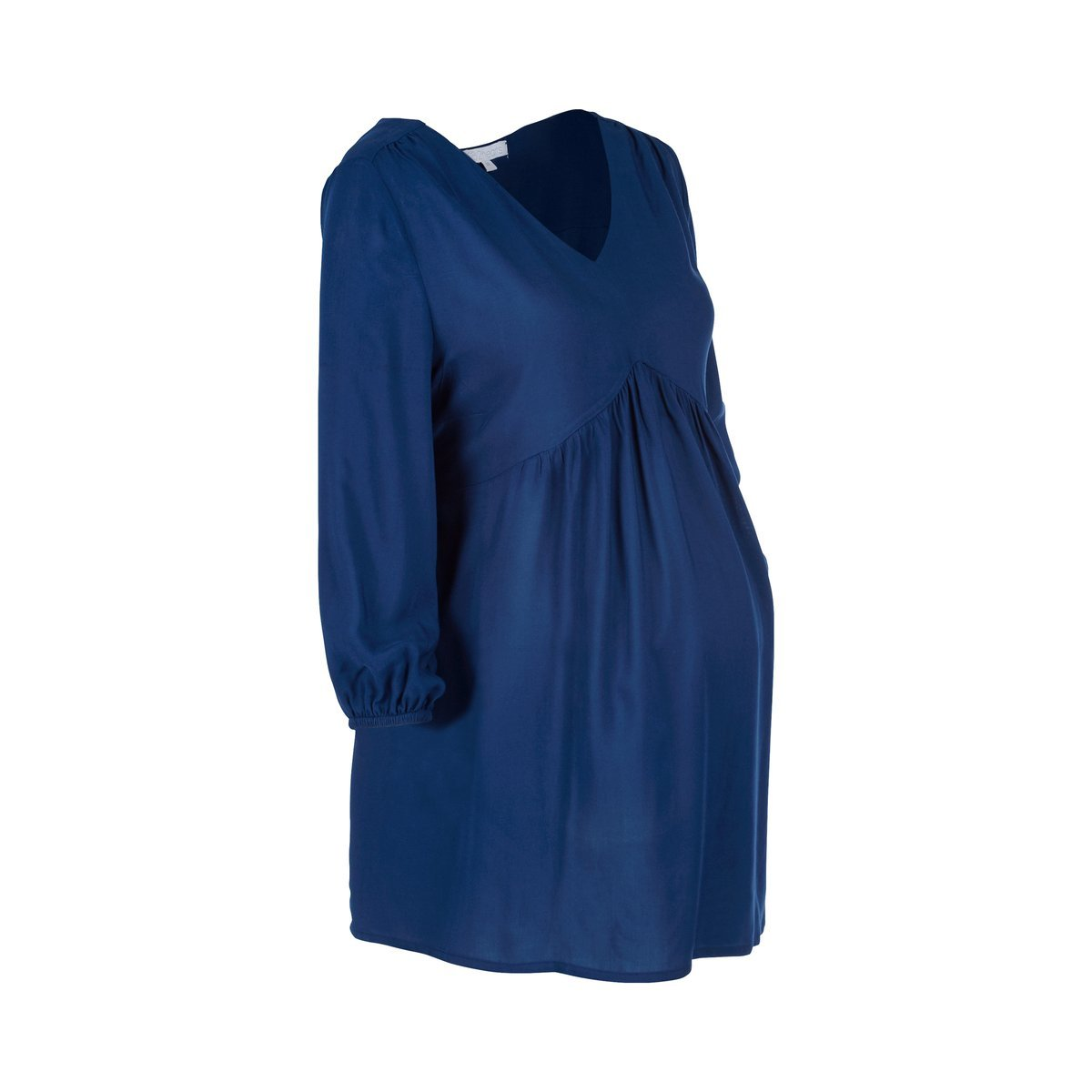 2HEARTS Umstands-Bluse V-Neck blau//Damen Umstandsmode//Schwangerschaftsmode//Bluse f/ür werdende Mamas