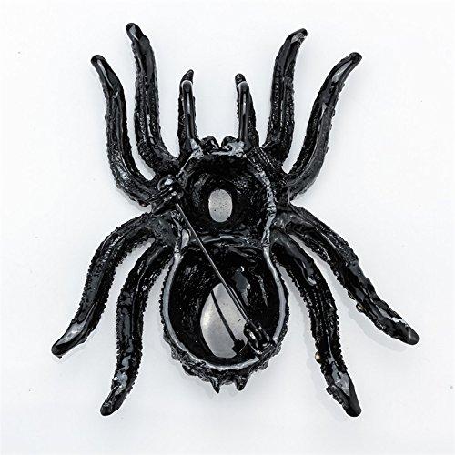 Szxc Jewelry Women's Crystal Halloween Spider Pin Brooch Pendants Photo #3