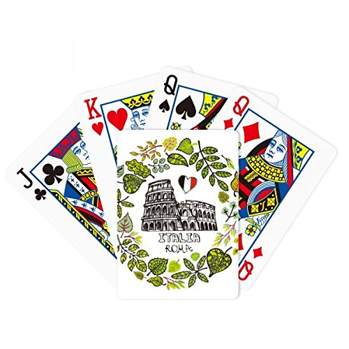 Colosseum Roma Italy Illustration Poker Playing Card Tabletop Board Game Gift by beatChong