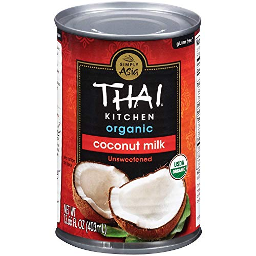 - Thai Kitchen Organic Unsweetened Coconut Milk, 13.66 fl oz, (Pack of 12)