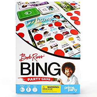 Bob Ross Bingo Game   Bingo Set for up to 16 Players - Party Game by Prime Party