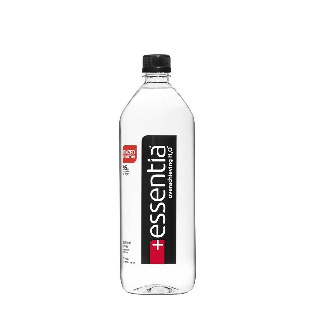 Essentia Ionized Alkaline 9.5 pH Bottled Water, 1 Liter, (Pack of 12)