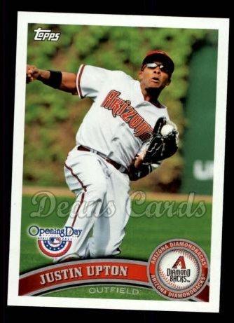 2011 Topps Opening Day # 18 Justin Upton Arizona Diamondbacks (Baseball Card) Dean's Cards 8 - NM/MT Diamondbacks