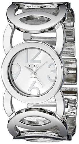 XOXO Women's XO5210 Silver-Tone Watch with Link Bracelet (Bracelet Link Circle Watch)