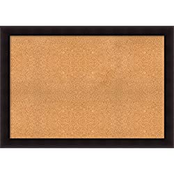 Framed Cork Board, Choose Your Custom Size, Portico Espresso Wood: Outer Size 54 x 38""