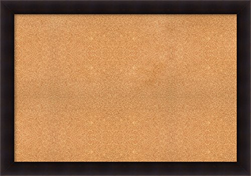 """Framed Cork Board, Choose Your Custom Size, Portico Espresso Wood: Outer Size 54 x 38"""""""