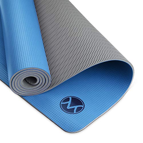 Youphoria Yoga Non Slip Yoga Mat, 24 inches x 72 inches x 6mm, Lightweight and Absorbent Yoga Mats for Hot Yoga, Home Yoga or Travel Yoga, Premi-OM Hot Yoga Mat, Cobalt Blue