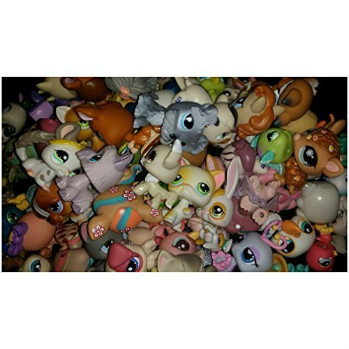 Littlest Pet Shop *LPS* Lot of 4 RANDOM Pets *Grab Bag* 1 Cat or Dog Per Bag from Unbranded