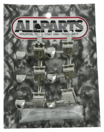 All Parts TK 0880-001 Gotoh Vintage 6 In Line Nickel Tuners by Allparts