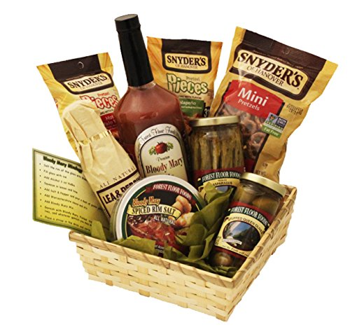 - Bloody Mary Mix Gift Set With Mixer Card, Pretzels, Rim Salt, Asparagus, Olives | Bloody Mary Gift Basket