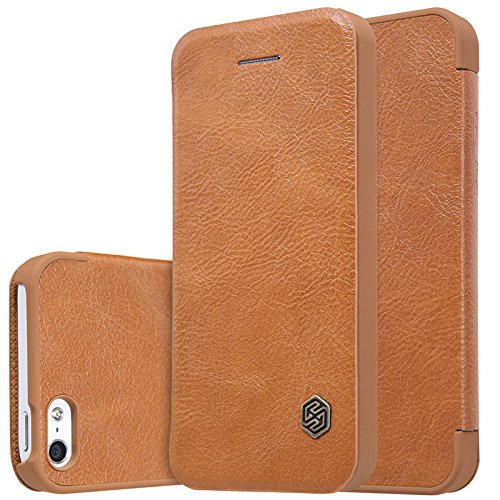 Nillkin Qin Series Leather Flip Case Cover for Apple Iphone SE 5 5S   Brown