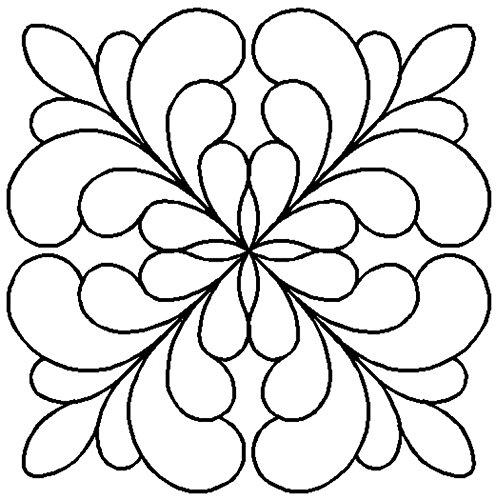 Quilting Creations Adante Feather Block Quilt Stencil, 7