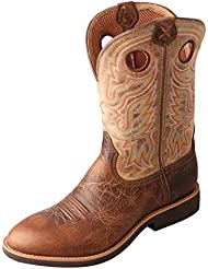 Twisted X Mens Calf Roper Boot Brown/Tan