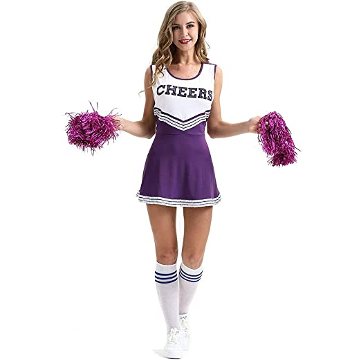 Amazon.com: New European And American Lingerie, XL Sexy Women Cheerleading Apparel Sexy Underwear Cheerleading Uniforms Performance Clothing (color : D, ...