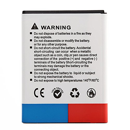 docooler®3.7V 1400mAh Rechargeable Li-ion Battery High Capacity Replacement for Samsung Galaxy EB454357VU S5360 I509
