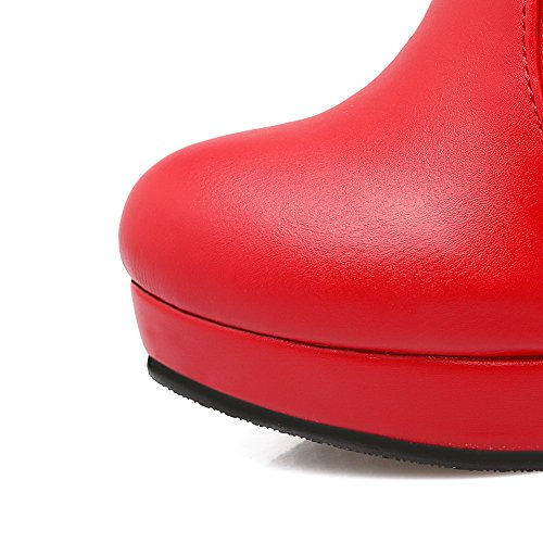 Boots Womens 3 Microfiber AdeeSu Comfort Red SXC01815 Slip 5 UK Resistant Dress Platform 8qqwdO4