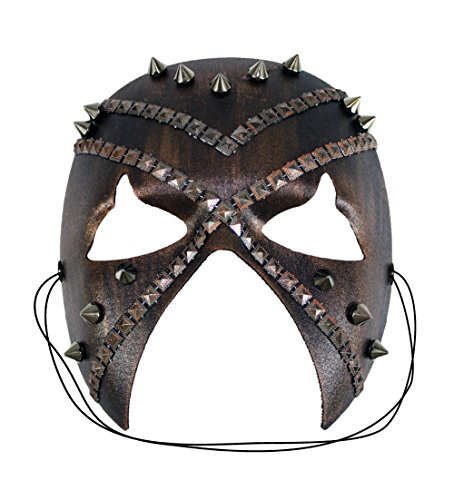 [Battle Studded Hand-Painted Warrior Masquerade Halloween Mask] (Male Dominant Costume)