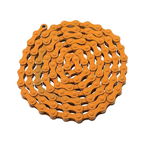 - YBN S410 Bicycle Chain (1-Speed, 1/2 x 1/8-Inch, 112L) , Various Colors (Orange)