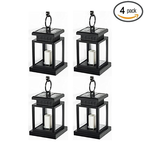 Realistic solar candle lanterns