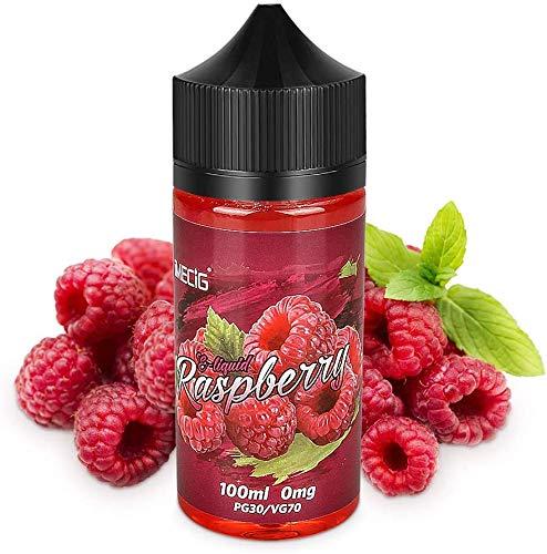 IMECIG® Himbeere E Liquid für E Zigaretten/E Shisha, E Liquid Aroma 70VG/30PG Vape Eliquids, ohne Nikotin(100ML)