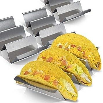 Texas Taco - Soporte de acero inoxidable para taco, bandeja ...
