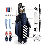 YBPGM Innovative New Patented Design Pop up Telescopic Professional Travel Golf Bag with Wheels fit 14 Ways