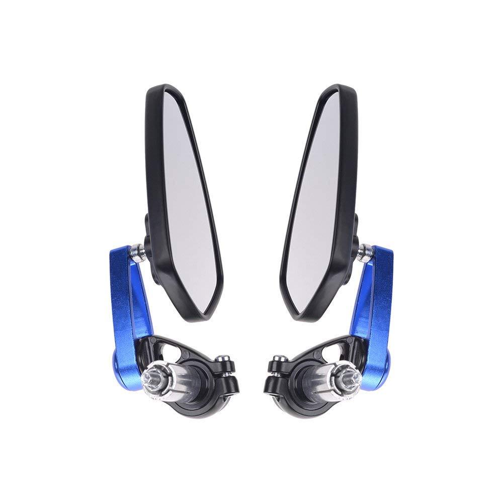R/étroviseur Ext/érieur en Aluminium Bleu HANEN R/étroviseur Universel de Moto de 7//822mm