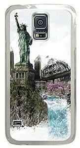 Beautiful New York DIY Hard Shell Transparent Samsung Galaxy S5 I9600 Case Perfect By Custom Service