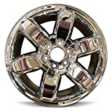 Road Ready Car Wheel For 2009-2013 GMC Sierra 1500 2009-2014 GMC Yukon 1500 20 Inch 6 Lug chrome Aluminum Rim Fits R20 Tire - Exact OEM Replacement - Full-Size Spare