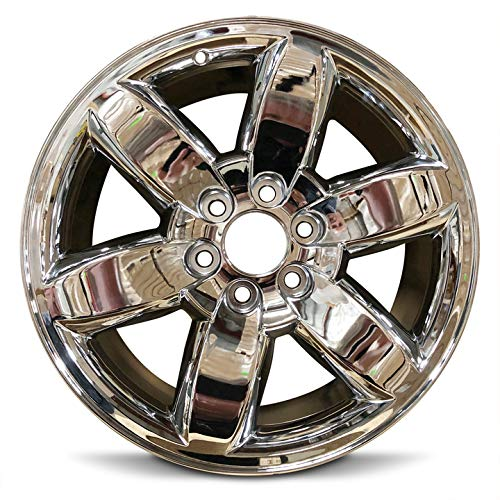 Road Ready Car Wheel For 2009-2013 GMC Sierra 1500 2009-2014 GMC Yukon 1500 20 Inch 6 Lug chrome Aluminum Rim Fits R20 Tire - Exact OEM Replacement - Full-Size Spare ()