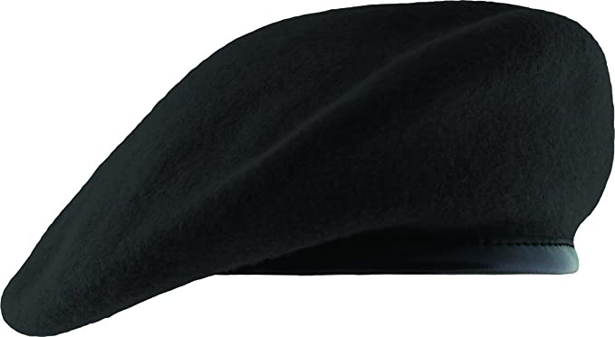 4dd22622 Amazon.com: Unlined Beret with Leather Sweatband: Clothing