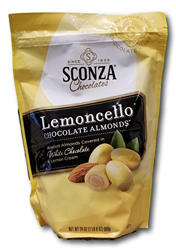 Sconza large Pouch Confections Lemoncello Almonds Zipper Pouch, 24 Ounce (Best Lemons For Limoncello)