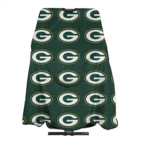 Marrytiny Custom Barber Salon Cape Apron Green Bay Packers Football Team Women's Men's Home Hair Cutting Apron Hairdresser Wai Cloth Barber Gown Wrap Profession Bib 55x66 Inches