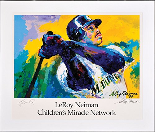 Ken Griffey Jr. Lithographic Print by Leroy Neiman hand signed by player and - Mariners Seattle Signed Hand