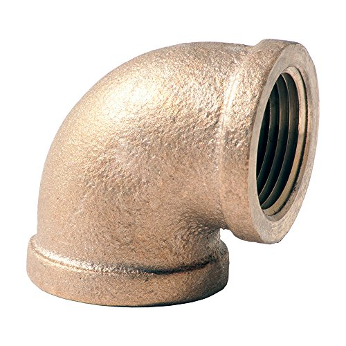 Merit Brass X101-16 Brass Pipe Fitting, Class 125, 90 Degree Elbow, 1'' NPT Female (Pack of 25) by Merit Brass