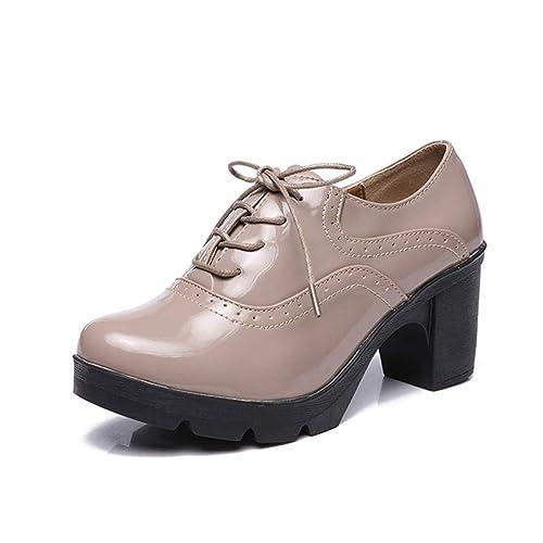 buscar auténtico predominante los más valorados Women Oxford Zapatos clásicos Tacones de tacón Grueso Bombas ...