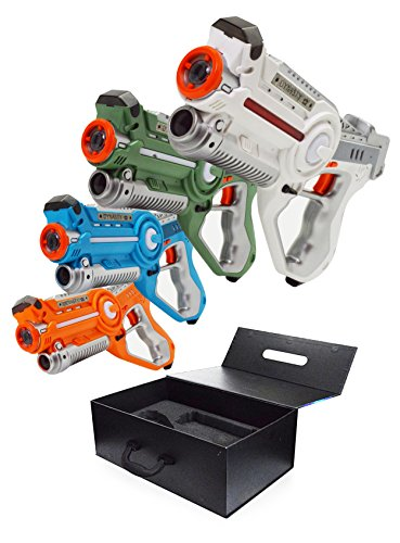 DYNASTY TOYS Laser Tag Set Toys and Carrying Case for Kids Multiplayer 4 Pack