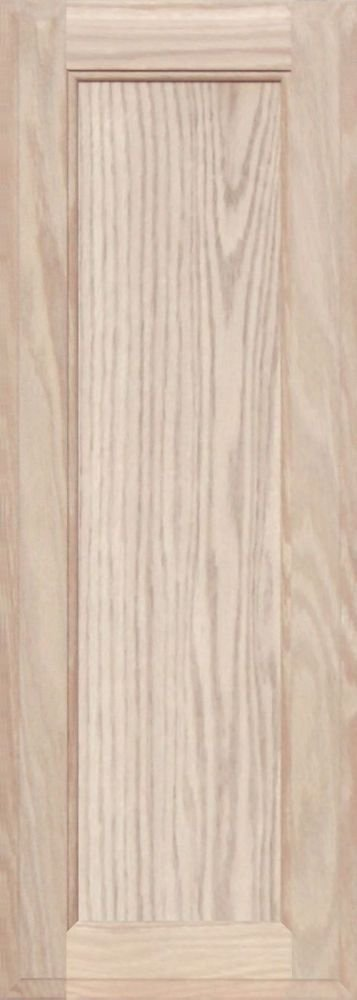 Unfinished Oak Square Flat Panel Cabinet Door by Kendor, 28H x 10W Kendor Wood Inc.