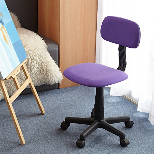 Homycasa Yanyan Mesh Mid-back Executive Adjustable Computer Task Desk Office Chairs (Purple)