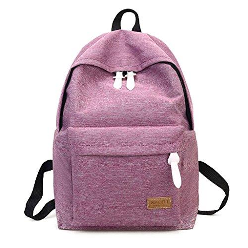 """Zaino Bookbags, borsa a spalla da viaggio KofunBorsa da viaggio leggera da donna Borsa da scuola per adolescenti"""" Viola"""