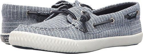 Sperry Top-Sider Women's Sayel Away Pinstripe Sneaker, Blue/White, 9 Medium US