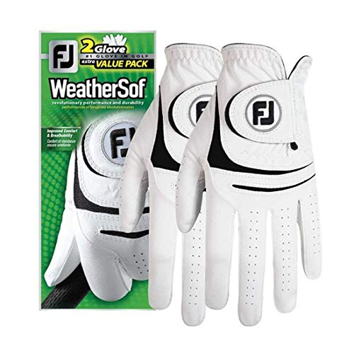 New FootJoy WeatherSof Mens Golf Gloves (2 Pack) (Medium, Worn on Left Hand)