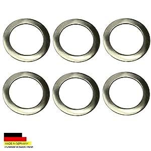 6 placas de acero inoxidable de ahorro de Ø 7,0 cm de platos de estaño 0,25 litros
