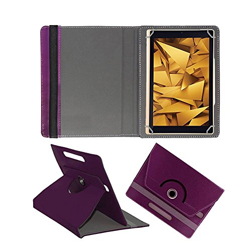 Fastway 360 Degree Rotating Tablet Book Cover for Iball Elan 10.1 #34; 4G  Purple