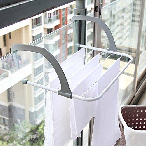 Multifunction Foldable Outdoor Clothes Drying Rack Bathroom Windowsill Sunderies