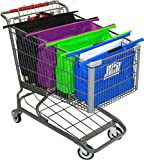 The Original CartBagz | Shopping Cart Trolley Bags | Sized for USA & CANADA | With insulated front blue bag! | Even works with CostCo and Sam's Club carts! offers